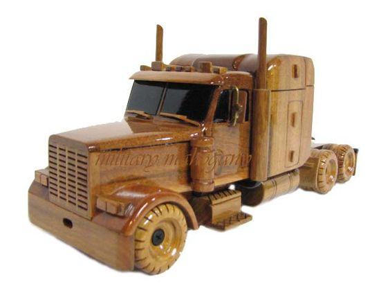 Peterbilt semi tractor trailer truck wood mahogany wooden for Wood floor for 379 peterbilt