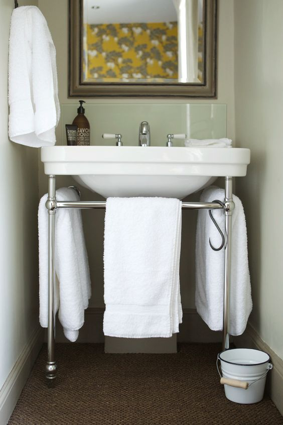 Small bathroom area with london console basin at the wheatsheaf remodel pinterest london Bathroom design jobs london