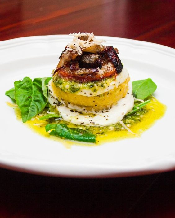 Vegetarian Entree Recipe, perfect for Valentine's Day: Polenta Stacks ...