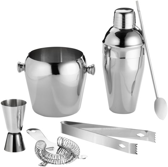 Cocktailmixer Set 6 tlg Edelstahl Cocktailmixerset: Amazon.de: Küche & Haushalt 15€ 500ml