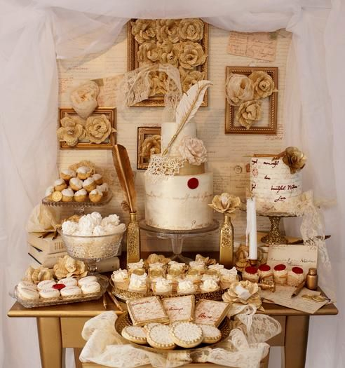 Hostess with the Mostess® - Lace & Love Letters Dessert Table: