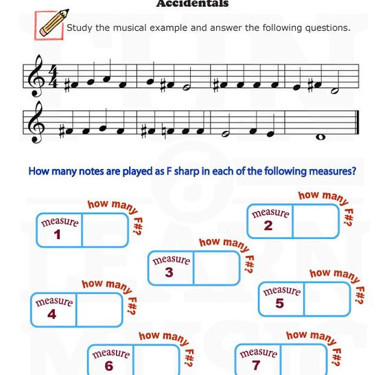 Printables Music Appreciation Worksheets music worksheets and on pinterest accidental worksheet for beginners