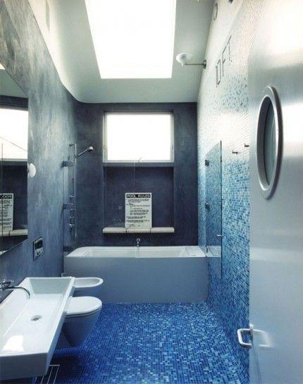 Piastrelle mosaico in bagno - Piastrelle mosaico blu