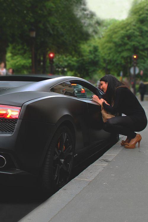 Matte black Lamborghini