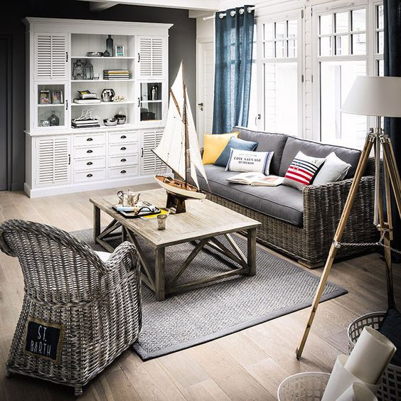 meubles d co d int rieur bord de mer maisons du monde for the home pinterest. Black Bedroom Furniture Sets. Home Design Ideas
