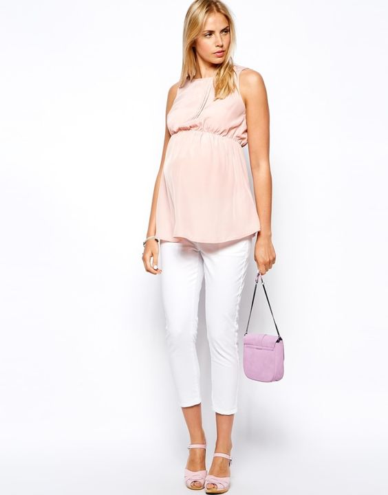 Blush Maternity Tank from ASOS - such a beautiful look!