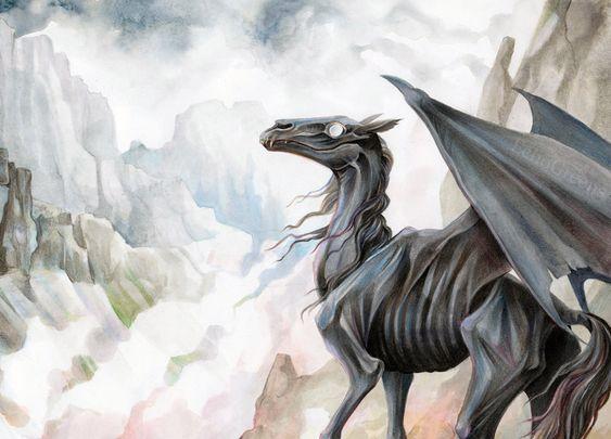 Resultado de imagen de thestral caballo