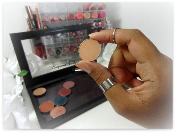 makeup geek crème brulee eyeshadow pan z palette fard à paupière mug simplement marilyne