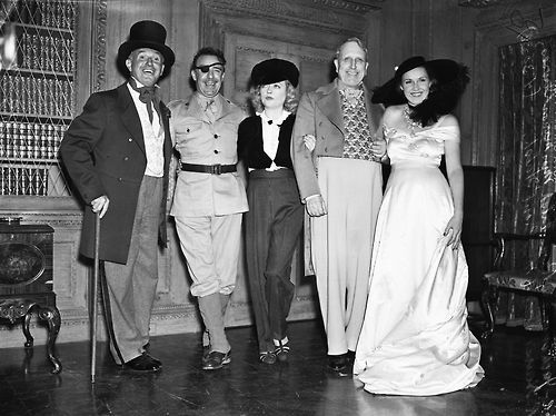 Jack Warner, Raoul Walsh, Marion Davies, William Randolph Hearst & Mrs Raoul Walsh celebrate WRH's Birthday, April 30, 1938:
