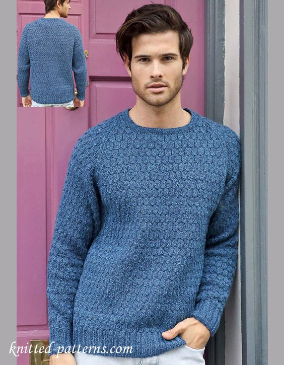 Mens jumper knitting pattern free Free knitting patterns Pinterest ...