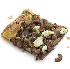 Olive Tapenade Tart with Caramelized Red Onions