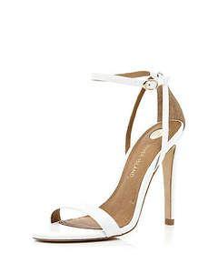 River Island White barely there stiletto sandals