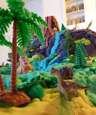 Dinosaurs And Then And Food Tables On Pinterest
