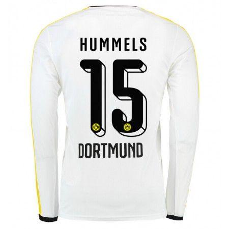 Günstige fußballtrikots BVB Borussia Dortmund 15-16 HummeDritte Langarm Langarm Trikot