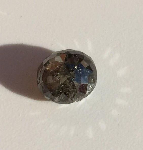 Smokey Grey Diamond grey diamond stone rustic diamond round diamond rose cut diamonds Rings by Irina not treated diamond Natural diamond loose rose cut stone