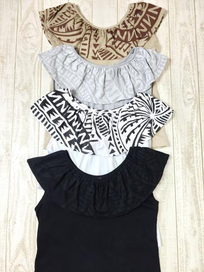 フリルTシャツ - Poli Pumehana *ポリプメハナ*アロヒキニをはじめハワイアンリゾートウェアの通販
