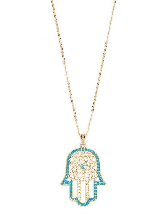 hamsa necklace from baublebar