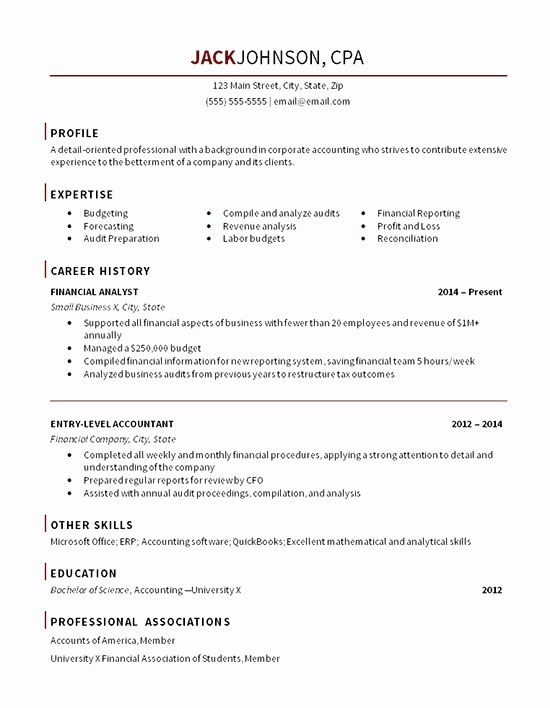 27 Accounting Resume Summary Of Qualifications Examples In 2020