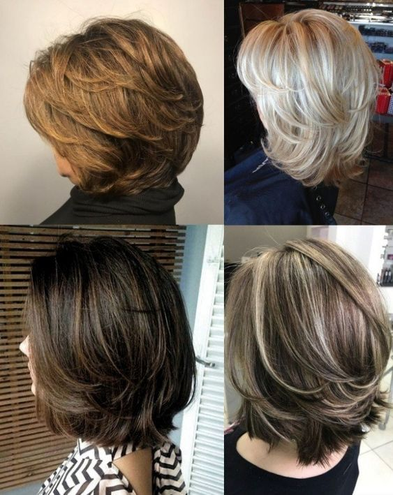 What are the different types of layered haircuts