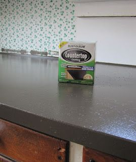 Rust-Oleum countertop coating $20 a can. Color: Clay. Love it lots. [1 ...