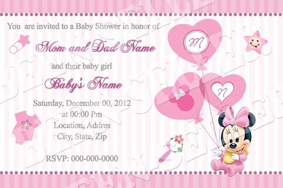 free baby shower invitations minnie mouse invitation baby minnie mouse