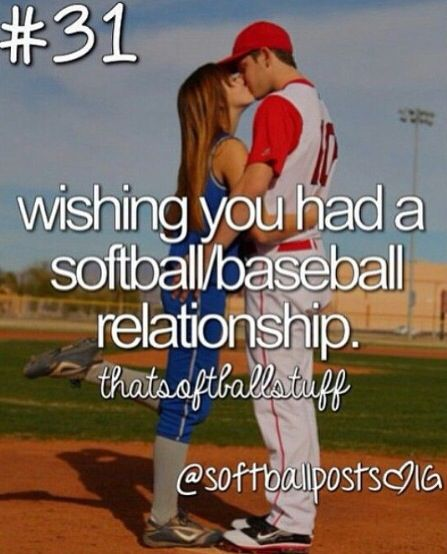 New Relationship Love Quotes: Softball Baseball Relationship Quote