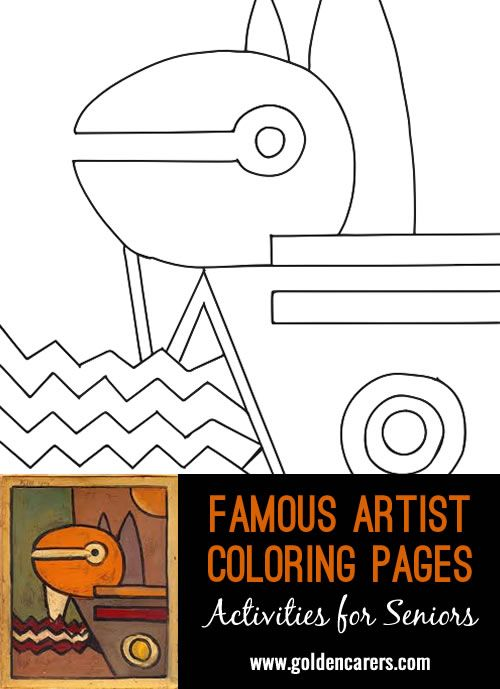 Artist Impression Paul Klee 1914 Coloring Books Coloring Pages Famous Artists