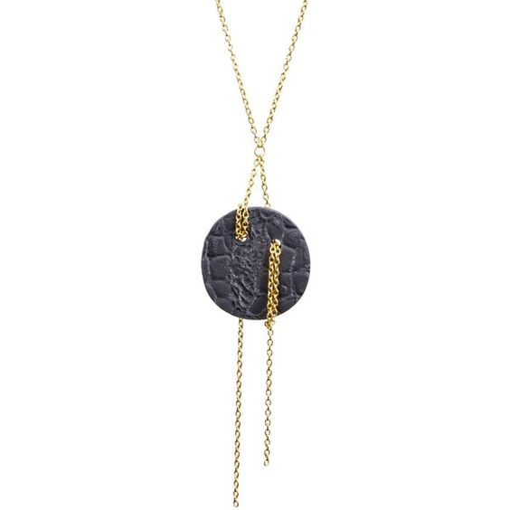 Dutch Basics - Moon Pendant Necklace ($61) ❤ liked on Polyvore featuring jewelry and necklaces