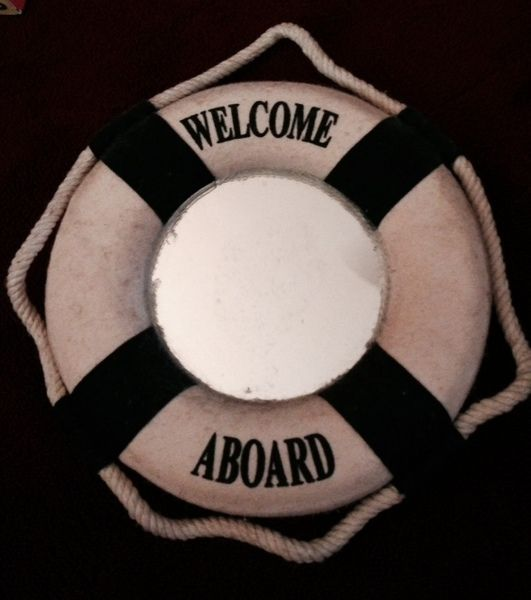 Welcome Aboard Mirror Hanging