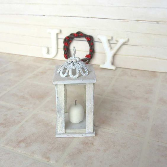 Wooden lantern for dollhouse in 1/12 scale by MairiTales on Etsy, €12.00