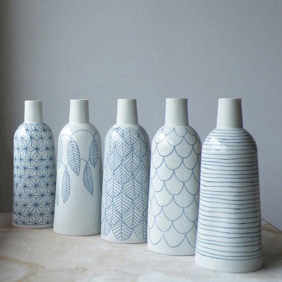 Bouteilles - porcelaine atelier Halo