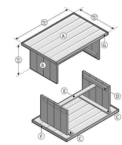 Bouwtekening van de gamma om een steigerhout tafel te maken idee n voor het huis pinterest - Tafel josephine wereldje van het huis ...