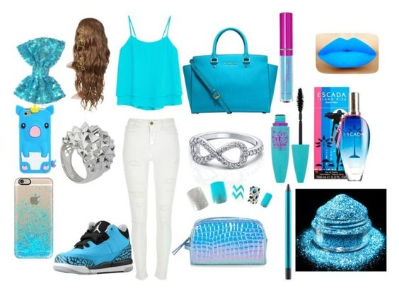 """Just have a blue day"" by keke554 ❤ liked on Polyvore featuring MANGO, Stephen Webster, River Island, Michael Kors, Accessorize, ESCADA, Maybelline, MAC Cosmetics, Casetify and women's clothing"