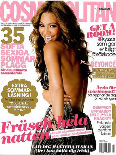 olha que linda a Beyonce na capa da cosmo sueca de julho de  2011