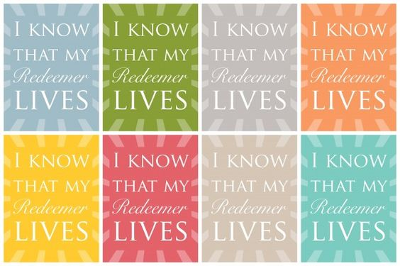 free printable: i know that my redeemer lives1