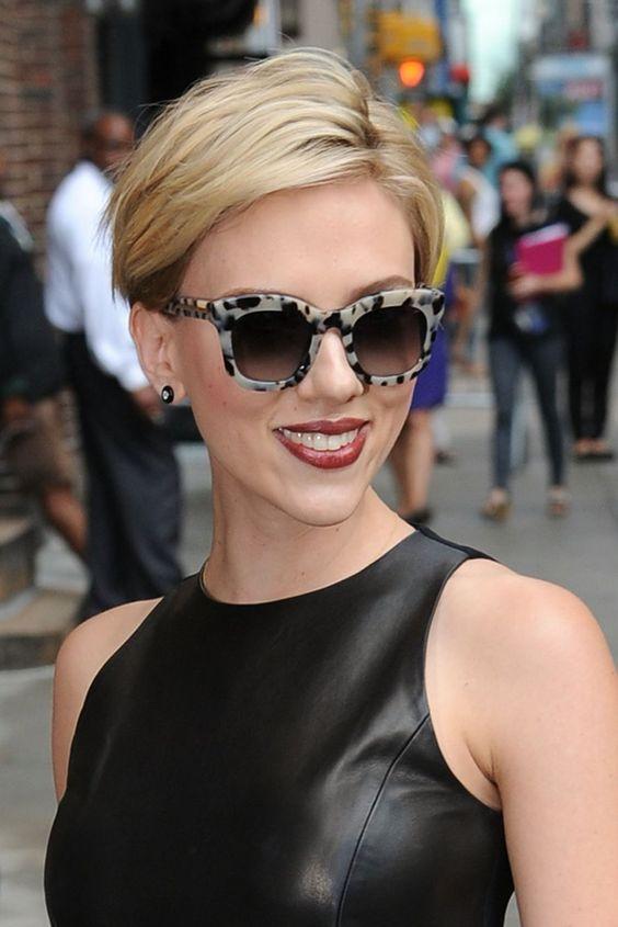 Scarlett Johansson- marsala lip:
