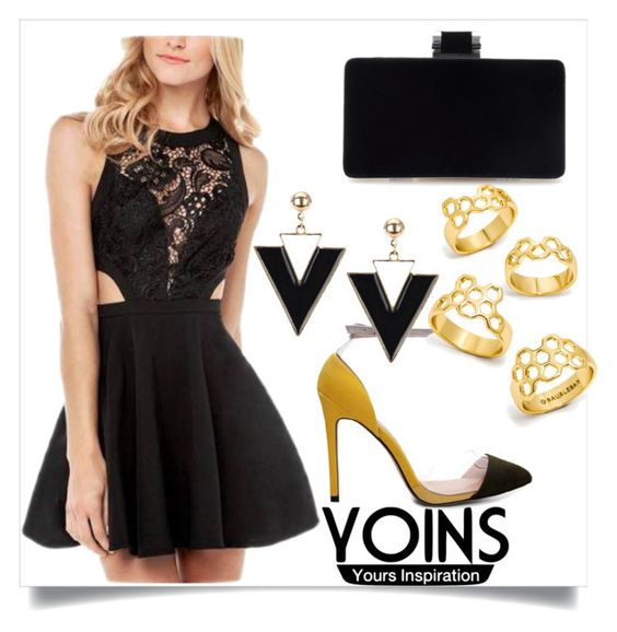 """""""YOINS DRESS"""" by milovanovic ❤ liked on Polyvore featuring BaubleBar, yoins and yoinscollection"""