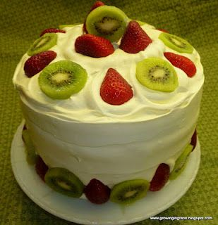 Strawberry, Kiwi, Angel Food Cake. Perfect for summertime!