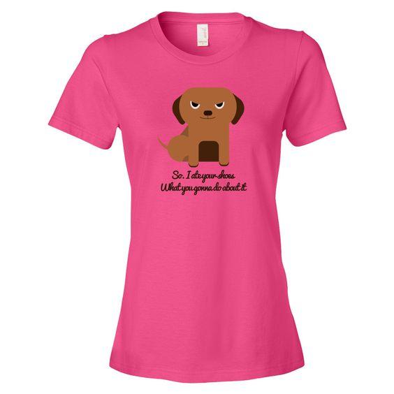 Dog Ate Shoes Women's short sleeve t-shirt