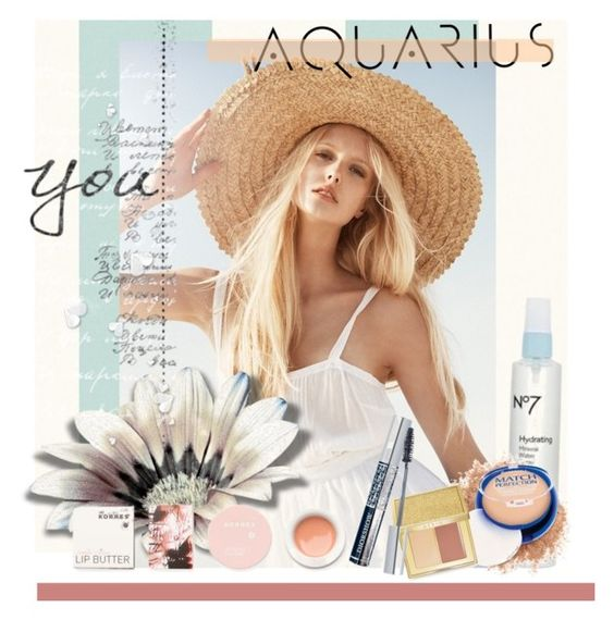 """Beauty Horoscope/ June"" by clotheshawg ❤ liked on Polyvore featuring beauty, Korres, Rimmel, AERIN and contestentry"