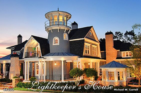 Lightkeeper's House - Breezy Coastal Lighthouse Plan | House Plans by Garrell Associates, Inc