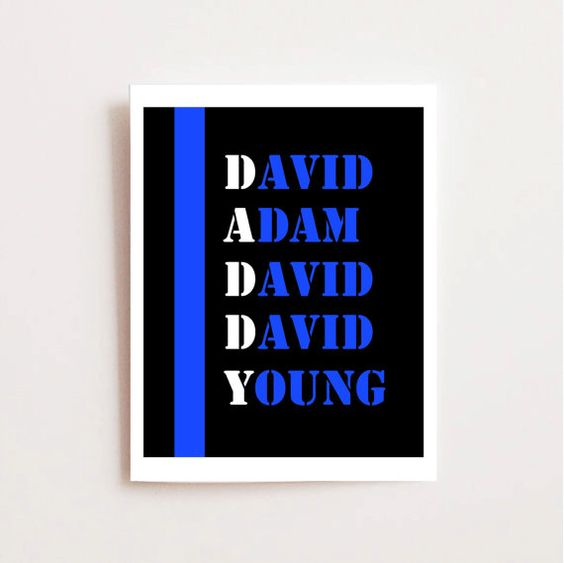 Daddy Police Printable for Father's Day - My Daddy's a Cop - Thin Blue Line Printable-  Law Enforcement Gift - Daddy Printable - Police Officer Dad - Last Minute Father's Day. $5 on Etsy