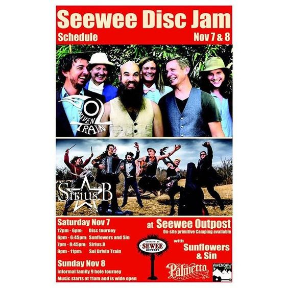 @awendawgreen 2 days till #seweediscjam wt @soldriventrain @girlee_o_siriusb and @sunflowersandsin 5-6pm presented by #seweeoutpost  @innovadiscs and @palmettobrewing  tickets at door. #charlestongood