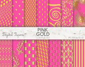 PINK GOLD PATTERN, colorful, summer, invites, scrapbooking, craft, printable sheets,background,texture,wallpaper