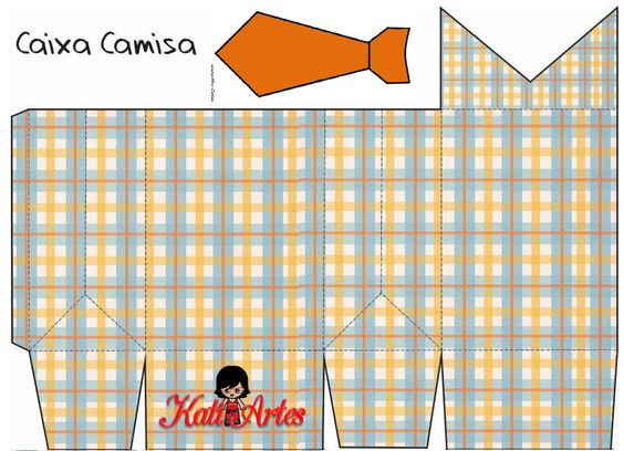Free Printable Shirt Shaped Boxes. | Oh My Fiesta! in english