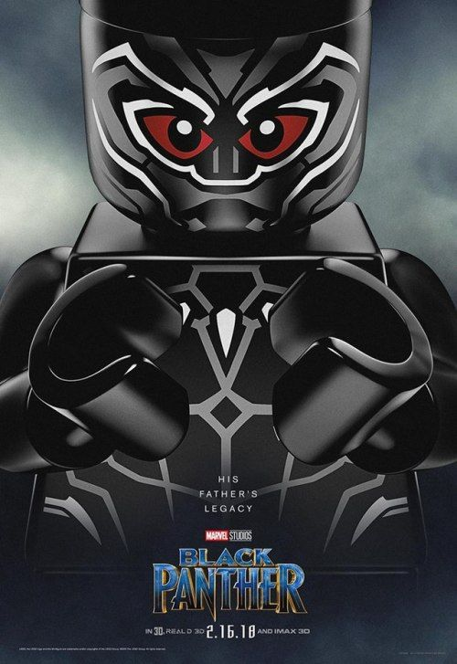Black Panther Lego Movie Poster Lego Poster Lego Movie Lego Marvel