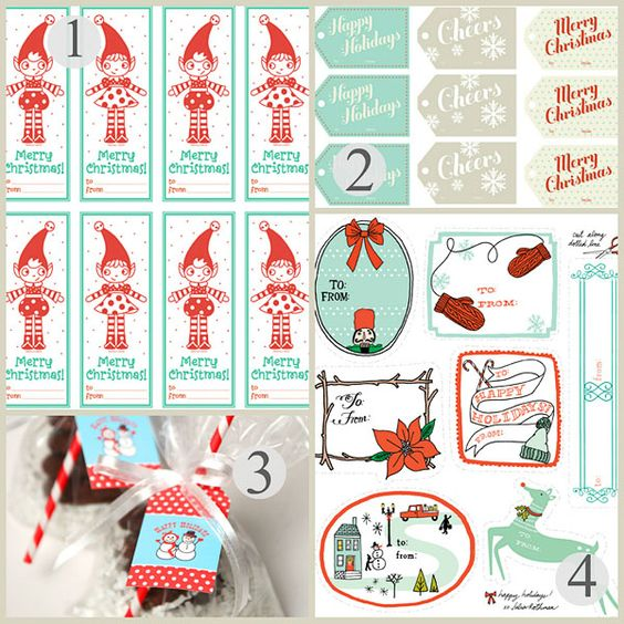 Printable Holiday Gifts Tag Round Up