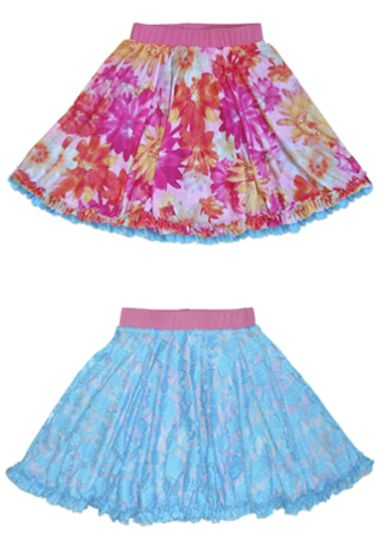 These holiday skirts for girls are twirly and reversible.  Why?  Because girls have different moods, that's why! $52