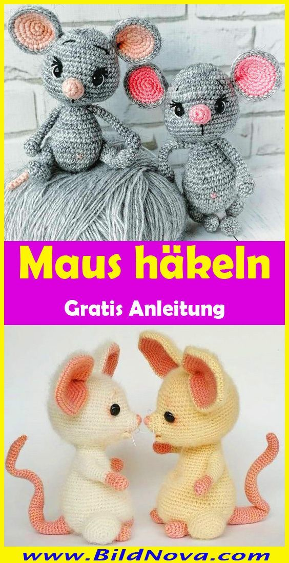 Maus häkeln // süßer Mäusejunge // DIY-PDF | 1100x564