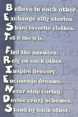 What does this mean by best friends?